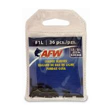 Afw Leader Sleeves Size Chart American Fishing Wire Single Barrel Leader Sleeves