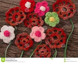 Crochet Flowers New Design Crochet Flowers Stock Photo Image Of Leaf Design Lilac