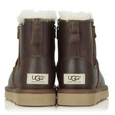 classic mini zip brown leather boot