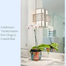 Coastal Iron Design A Bathroom Transformation From Dingy To Coastal Bliss Dig