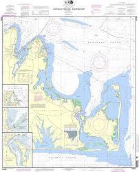 Noaa Chart 13238 Marthas Vineyard Eastern Part Oak Bluffs Harbor Vineyard Haven Harbor Edgartown Harbor