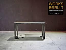 Industrial Esstisch Aus Stahl Und Holz Industriemöbel Mit Stil