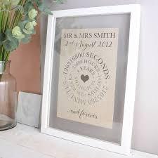 linen anniversary time print