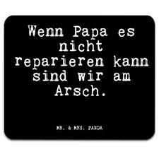 Mr Mrs Panda Mauspad Druck Mit Spruch Wenn Papa Es Nicht