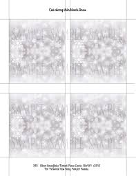 christmas placecard templates christmas winter silver snowflake editable place card template