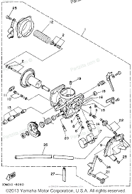 Yamaha motorcycle 1988 oem parts diagram for carburetor