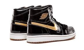 gold top 3 jordan 1 black gold patent leather