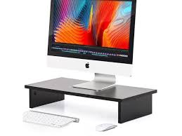 fitueyes computer monitor riser 4 7 high 23 6 save space desktop stand for