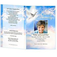 Funeral Pamphlet Templates Adorable Amazon Peace Funeral Program Template Edits In Microsoft Word