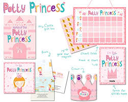 Princess Potty Chart Princess Potty Training Gift Set With Book Potty Chart Star Magnets And Reward Crown For Toddler Girls Comes In Castle Gift Box