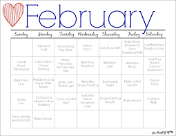 February Printable Activity Calendar For Kids - The Chirping Moms