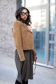 midi skirt in winter esprit brown suede leather jacket zara khaki midi skirt midiskirt outfit winter