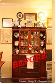 Bargain Decorating With Laurie Painted China Cabinet Finally