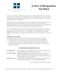 Official Letter Of Resignation Templates At