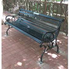 haitu wrought iron iron garden benches