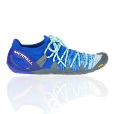 Details About Merrell Womens Vapor Glove 4 3d Trail Running Shoes Trainers Blue Sports