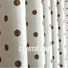 gold polka dot curtains pink and white polka dot shower curtain brown