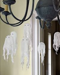 Entry Hall Lighting Hanging Ghost Black White Decoration Easy To Make  Ghosts, Traditional Halloween Home Decorating Ideas ...