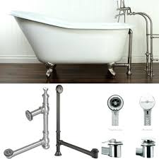 tub drain kit bathtub trim brushed nickel