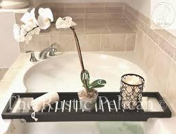 Bathtub Tray Bathtub Tray Rustic Bathtub Caddy Tub Tray Wood Tub Shelf