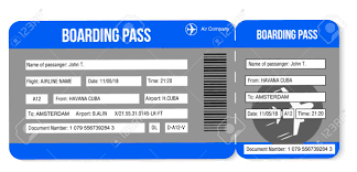tickets template air ticket boarding pass tickets template isolated on white