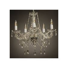 house of hampton holton 5 light silver crystal chandelier intended for awesome residence silver crystal chandelier remodel