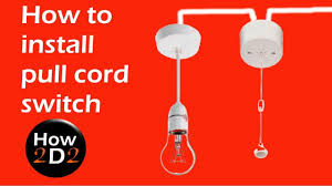 How To Fix A Broken Pull Cord Light How To Install And Wire Pull Cord Switch