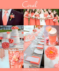 peach wedding colors. Coral Wedding Color Combination Options You Dont Want to Overlook