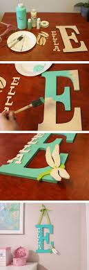 painted wooden letter for a kids room
