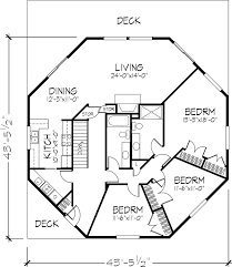 octagon house plans. Octagon House Floor Plan, 1 Of 2 Levels Plans P
