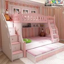 Mediterranean bunk bed Korean children bed picture bed bunk bed childrens  princess bed girl pink
