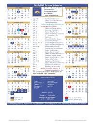 School Calendar 2015 2019 Template District Calendar District Calendar Grandview C 4 School District