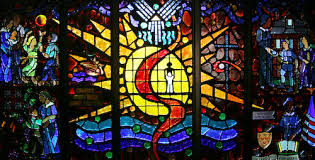 history stained glass window