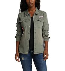 Silver Jeans Co Size Chart Silver Jeans Co Womens Stretch Twill Shirt Jacket