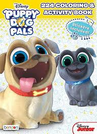 Amazoncom Bendon Disney Junior Puppy Dog Pals 224 Page Coloring