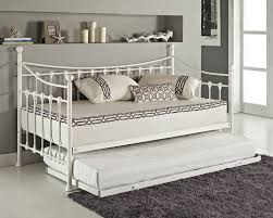 white iron daybed. Unique White Versailles French Day Bed And Trundle Black White Metal Frame With Foam  Mattress  EBay Inside Iron Daybed N