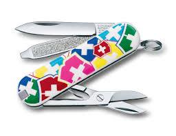"""Заказать <b>Нож</b>-<b>брелок</b> VICTORINOX Classic """"<b>VX Colors</b>"""", <b>58 мм</b>, 7 ..."""