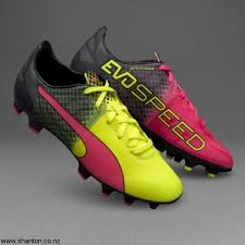 puma evosd 1 5 tricks kids boost fg pink rugby boots glo safety yellow black cjptw03567