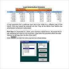 Amoritization Calculator Sample Loan Amortization Calculator 8 Free Documents In Pdf