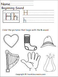 Includes differentiated support and independent sheets. Free Beginning Sounds Worksheet Letter H Free4classrooms