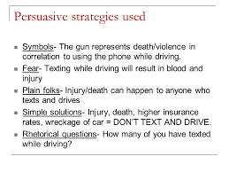 texting and driving it kills whatever you have to say it can 6 persuasive strategies