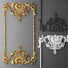 boiserie molding turbosquid baroque frame stucco