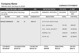Sample Check Stub 11 Images Of Check Stubs Resume Statement