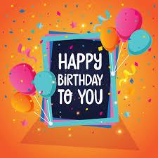 Balloon Theme Happy Birthday Card Illustration Vector Free Download