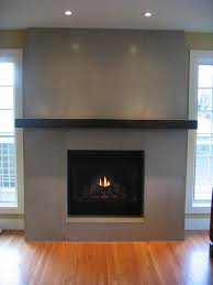 contemporary fireplace tiled surround with mantle but lighter