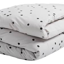grey and black spot duvet cover for a child s single bed