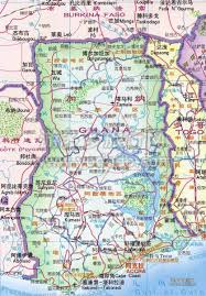 detailed road map of ghana in chinese ghana detailed road map in