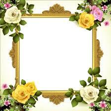 frame design flower. classical frame with flower design 02 r