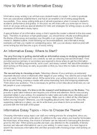 Informative Essays Examples Informative Essay How To Make A Great Essay 500wordessay