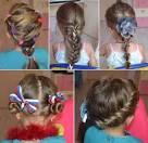 Прически на длинные волосы для детей в школу